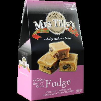 Mrs Tillys Rum & Raisin Fudge 150g