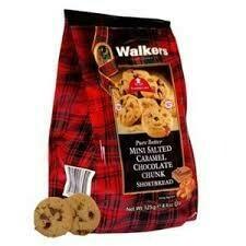Walkers Salt Caramel Choc Shortbread 125g