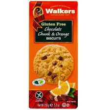 Walkers Choc Orange Cookies GF 150g