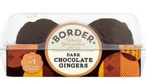 Border Dark Choc Gingers 150g
