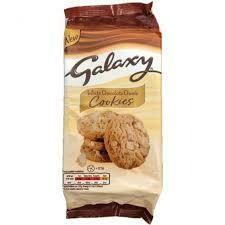 Galaxy White Choc Chunk Cookies 180g