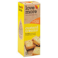 Lovemore Gluten Free Custard Creams 125g