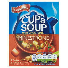 Batchelors Cup A Soup Minestrone 4pk