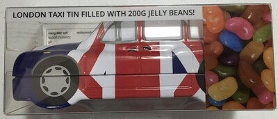 Union Jack London Taxi Tin  Filled With 200g Jelly Beans