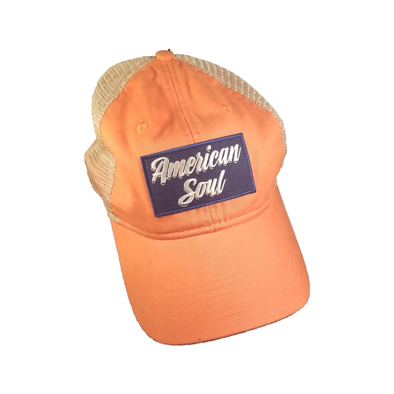 """""""American Soul"""" Orange Trucker Hat"""