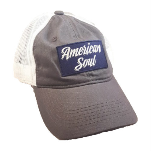 """American Soul"" Gray Trucker Hat"
