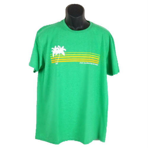 """Green """"Just Another Day In Paradise"""" Tee"""