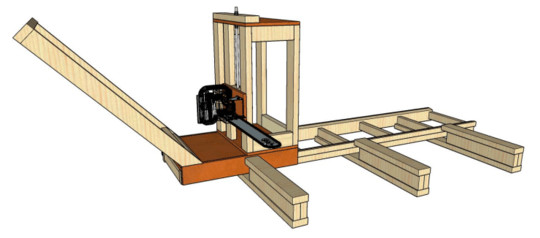 HOMEMADE CHAINSAW SAW MILL