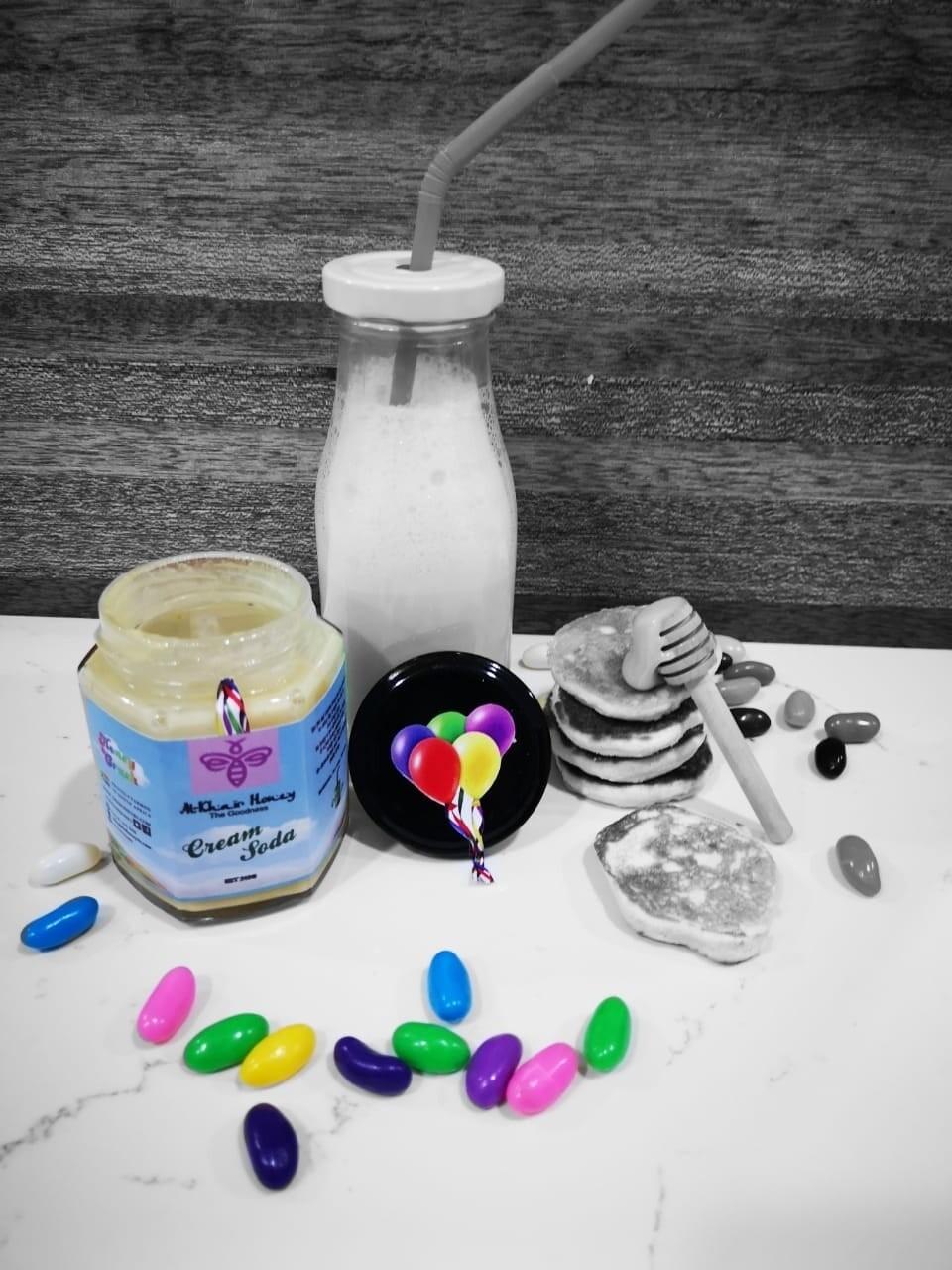 Honey Crush, Cream Soda, 240g, glass jar
