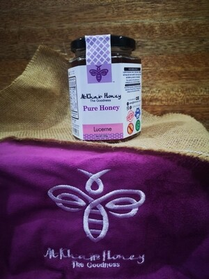 Pure Honey, Lucerne, 370g Glass Jar