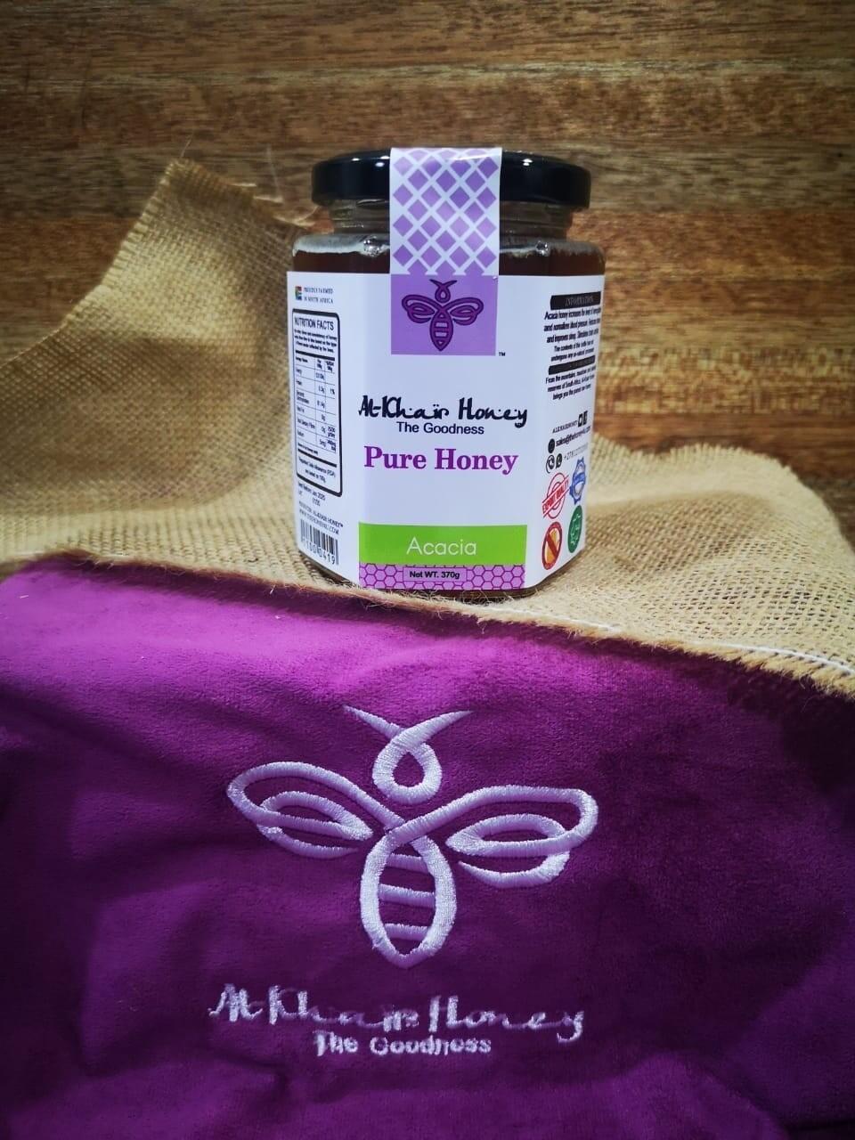 Pure Honey, Acacia, 370g Glass Jar