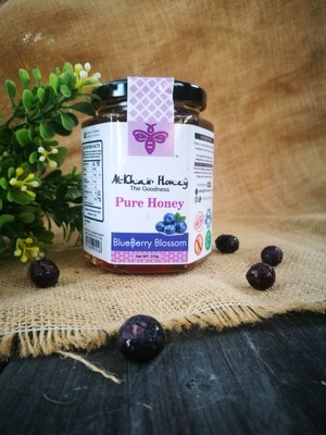 Pure Honey, Blueberry Blossom, 370g Glass Jar
