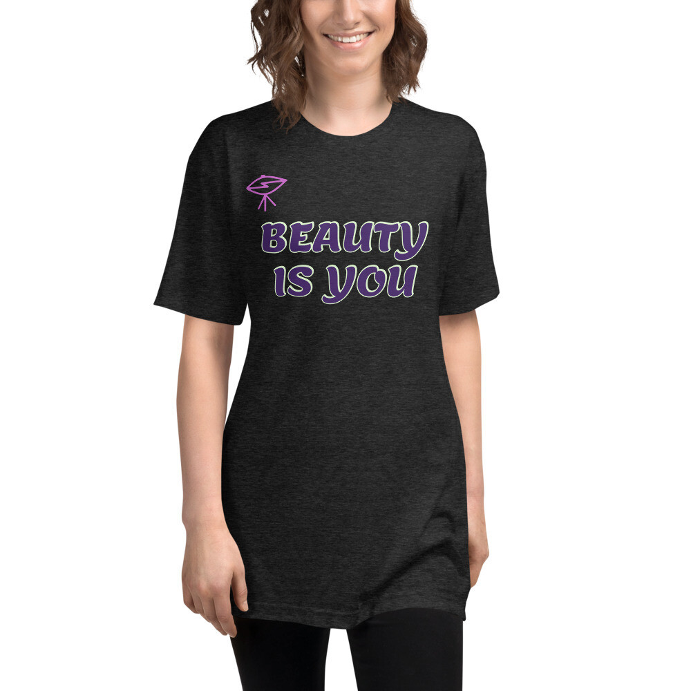Beauty Is You American Appearal Unisex Tri-Blend Track Shirt