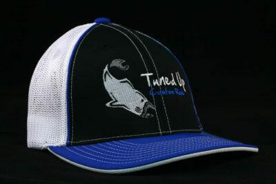 HAT FLEX FIT WHITE/BLUE  L/XL W/BLUE L/XL