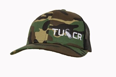 ARMY CAMO/BLACK TRUCKER HAT