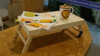 Столик для завтрака ,складные ножки 50х30см