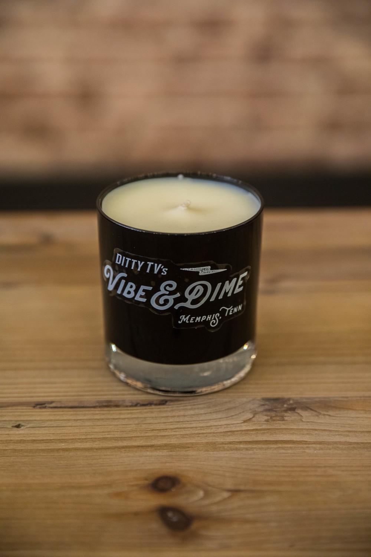 "Vibe & Dime ""Sunflower"" Series Candles - White Tea & Amber (Black)"