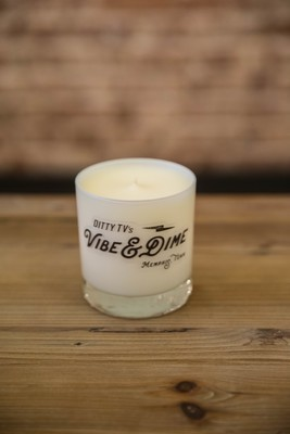 "Vibe & Dime ""Sunflower"" Series Candles - Grapefruit & Tobacco Leaf (White)"