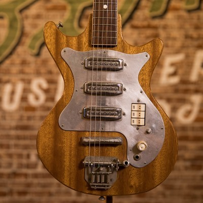1966 Vintage Kingston Hound Dog 3PU MIJ Electric Guitar Natural