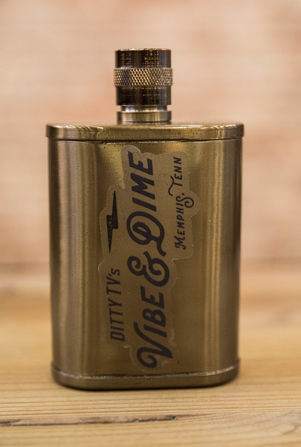 DittyTV Copper Bronze Color 9 oz Flask