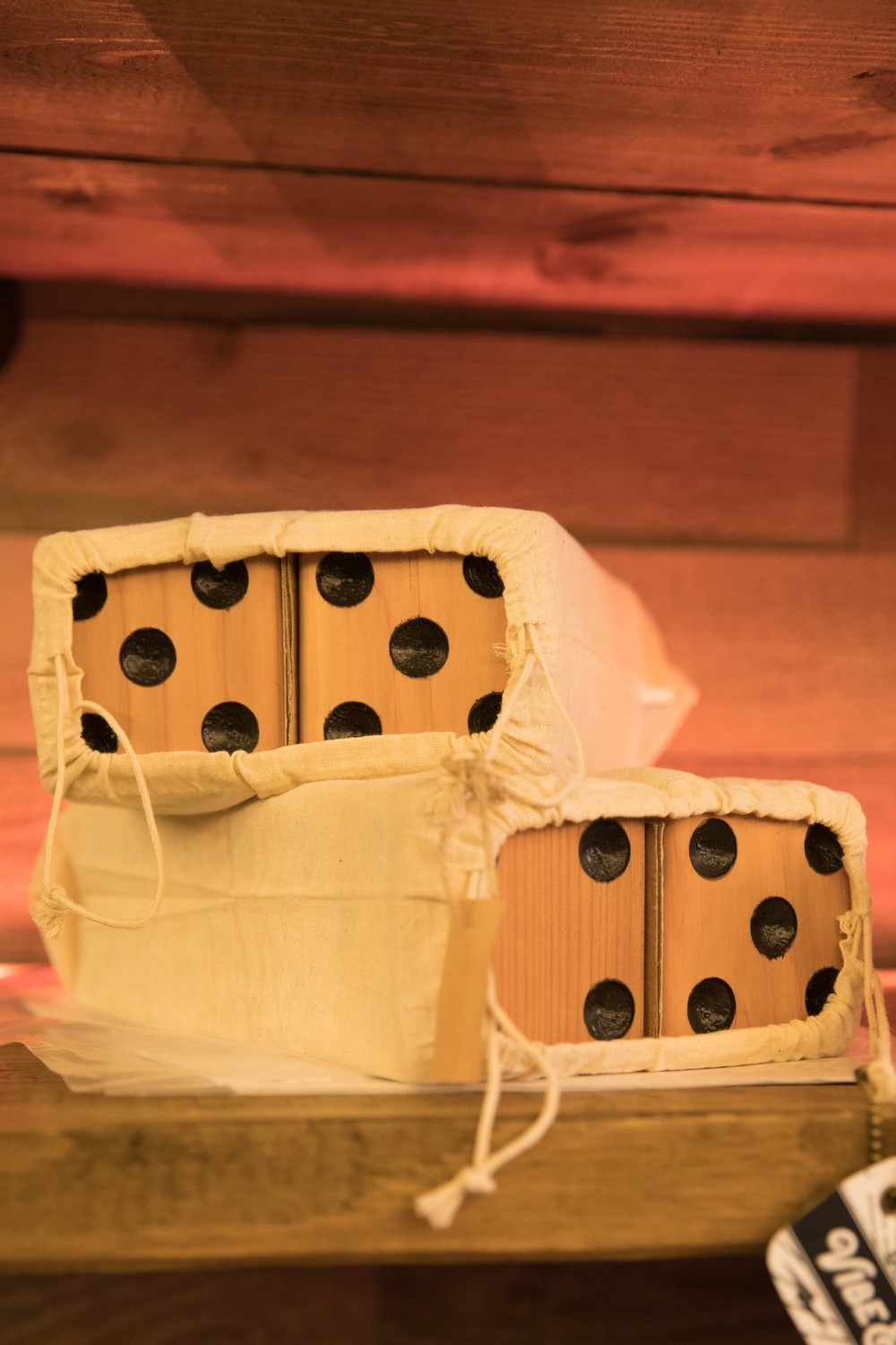 Giant Wooden Lawn Dice for Yardzee and Farkle