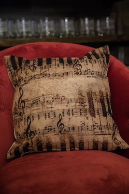 DittyTV Music Note Pillow - Distressed