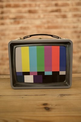 Vintage TV Embossed Large Tin Fun Box