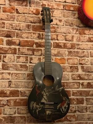 1939 Lone Ranger Stencil Cowboy Parlor Guitar - all original