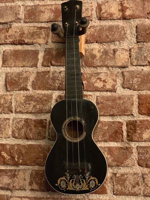 1943 Regal Made Suprano Ukulele Black Great Player & Sound