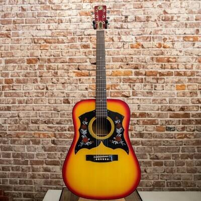 1960 Kay K520 Acoustic Guitar Cherry Burst