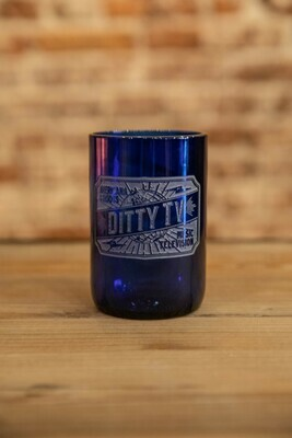 DittyTV Wine/Water Glass--Blue