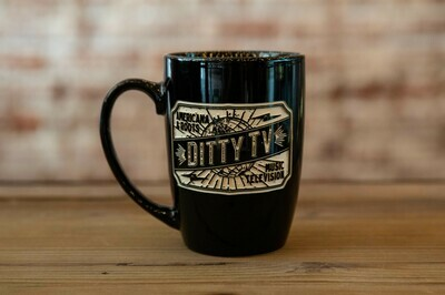 DittyTV Coffee Mug-BLACK Engraved
