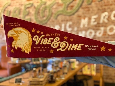 Pennant--Vibe and Dime--Crimson