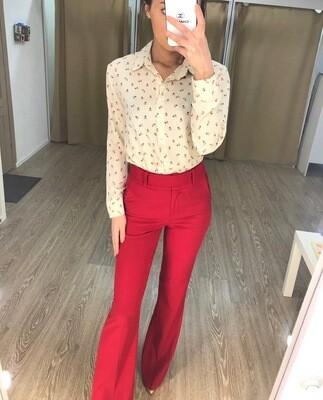 Красные брюки клеш