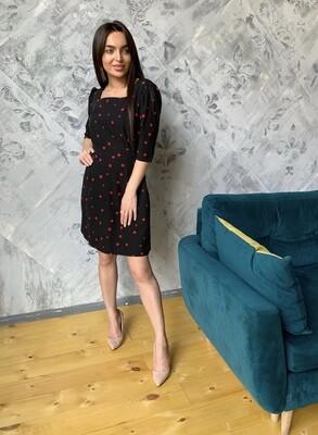 Платье мини черное