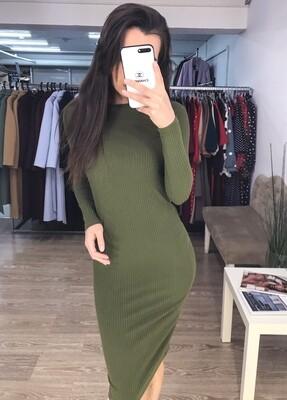 Платье-лапша хаки