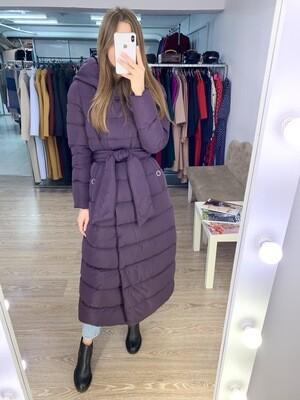 Куртка-пуховик зимняя сливовая