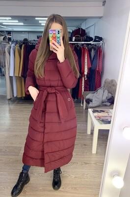 Куртка-пуховик зимняя бордовая