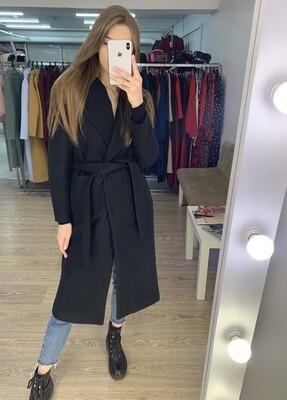 Пальто-халат черное