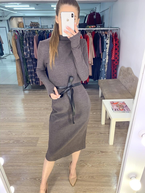 Платье трикотажное рукав с пальцем
