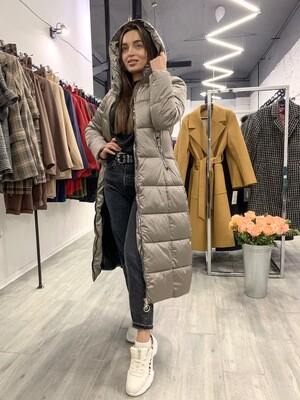 Куртка-пуховик зимняя бежевая