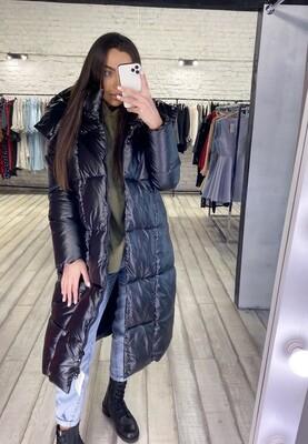 Куртка металлик чёрная
