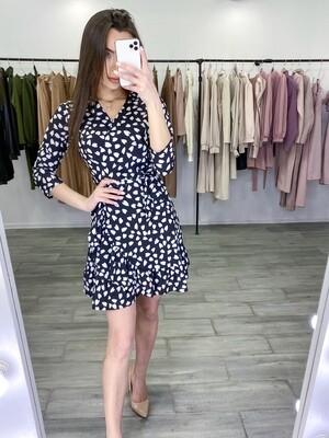 Платье на запах с оборкой