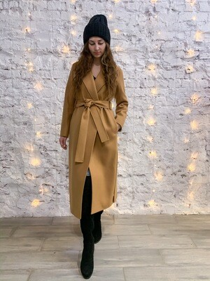 Пальто халат с поясом