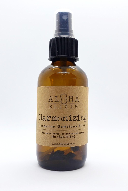 Harmonizing Tanzurine and Lavender Gemstone Elixir