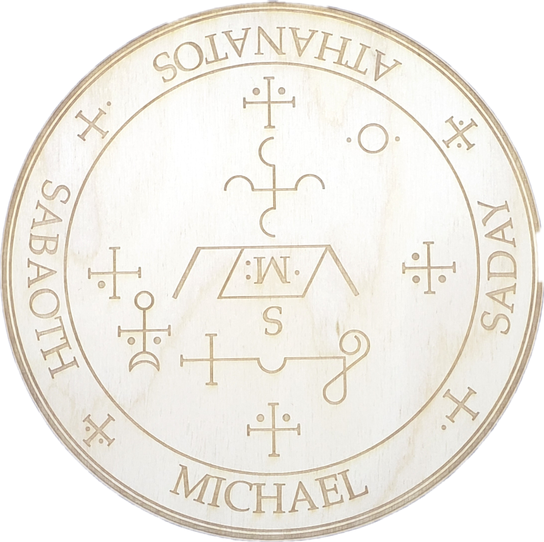 Archangel Michael Wooden Angel Plaque