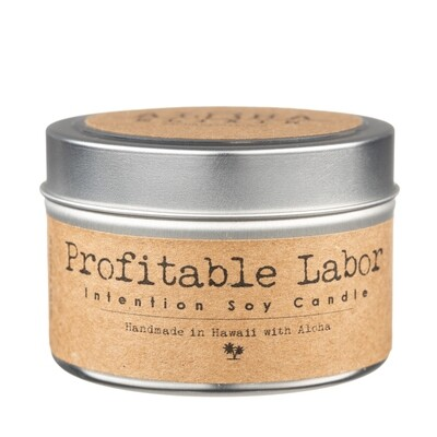 Profitable Labor Soy Intention Candle