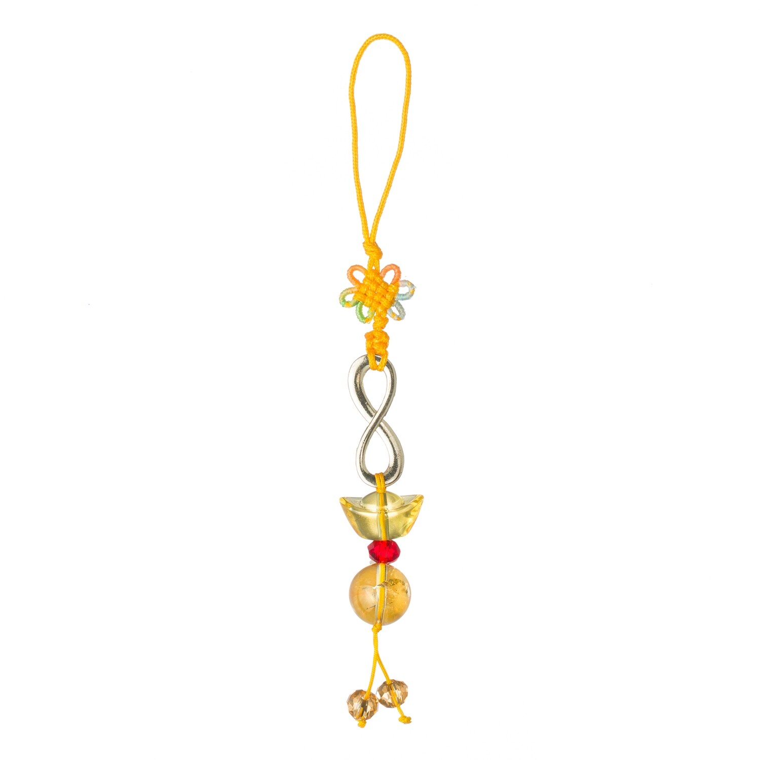 Number 8 Lucky Charm Key Chain Amulet