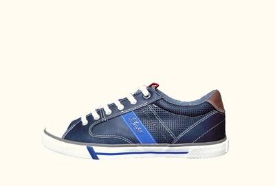s.oliver blauw heren schoenen