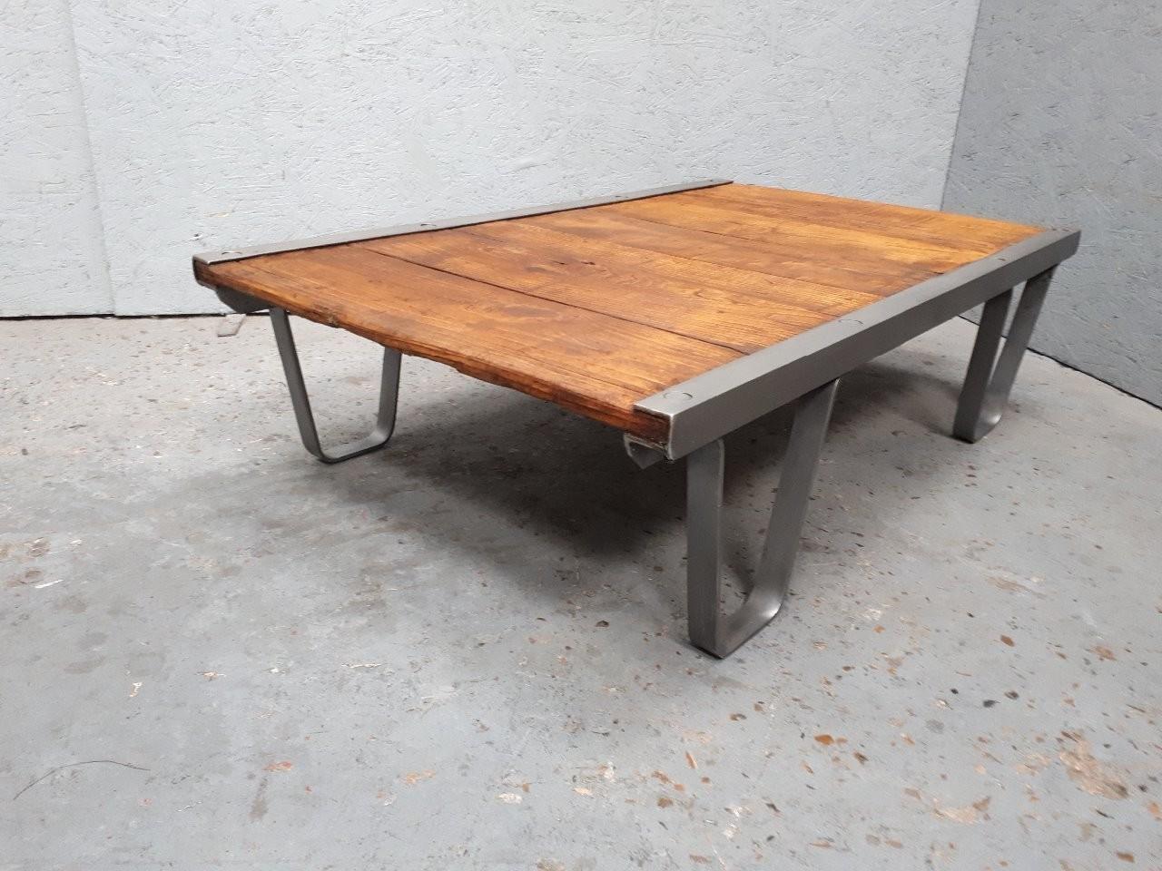 Grande Table Basse Industrielle Palette Sncf